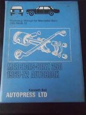 Vtg Workshop Car Manual Mercedes Benz 250 1968-72 Autobook Autopress Ltd