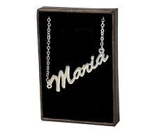 Maria En Oro Blanco Platinado Collar Con Nombre-Custom Made compromiso Regalos