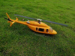 Bell-427 scale fuselage for OMPhobby M2 helicotper, stainless steel landing gear