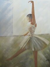abstract ballerina dancer large oil painting canvas original ballet contemporary