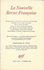 LA NOUVELLE REVUE FRANCAISE n° 248 .Aout 1973 . Manuel de Diéguez