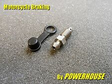 Motorcycle brake caliper 7mm stainless bleed screw nipple Kawasaki Suzuki Honda