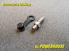 MOTO PINZA DE FRENO 7mm inoxidable Tornillo de purga Boquilla Kawasaki Suzuki