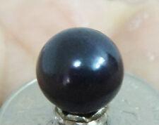 HUGE 10MM PERFECT ROUND TAHITIAN GENUINE BLACK LOOSE PEARL UNDRILLED