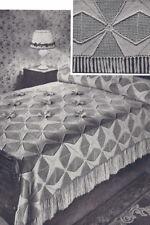 Vintage Crochet PATTERN MOTIF BLOCK Bedspread May Queen