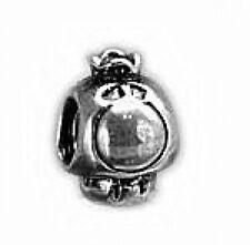 LOOK Super Mario Princess peach mushroom silver .925 bead
