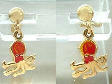 Ohrstecker Gold 750 - Tintenfisch - Goldohrstecker - Ohrhänger - Ohrringe 18 kt