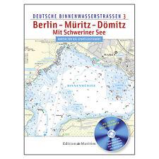 Deutsche Binnenwasserstraßen 3 - Berlin, Müritz, Dömitz, Schweriner See # Karte