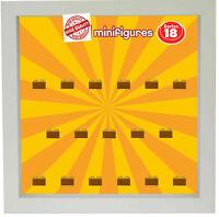Setzkasten Vitrine für LEGO Minifiguren Motiv Serie 18