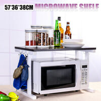 2 Tier Iron Microwave Oven Rack Stand Storage Holder Kitchen Shelf DIY Home