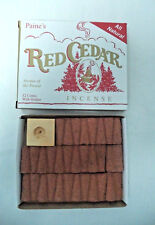Paine's Red Cedar Incense Cones: Box of 32 with Holder / Burner (Paines)