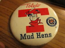 "Dead Stock Older TOLEDO MUD HENS Logo 3 1/2"" Pin DETROIT TIGERS"