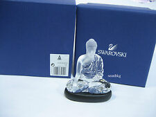Swarovski Buddha With Jet Crystal Base Clear Crystal Figurine Authentic -5064252