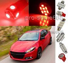 Premium Red SMD LED Lights Interior 13X Package Upgrade for Dodge Dart