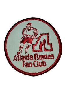 1970s ATLANTA FLAMES FAN CLUB - Unused Vintage Patch - NHL HOCKEY