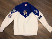 Vintage Cheerleader Supply Co Sweater Size 36 S M 1974 Patches Retro Acrylic USA