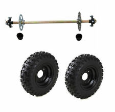 Go Kart Rear Axle Assembly Kit Complete Wheels Hubs for Mini Kids ATV QUAD Buggy