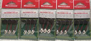 (5) Megabass Okashira Head 1/16oz #3/0 Jig Heads 3/pack All New Random Pulls KN1