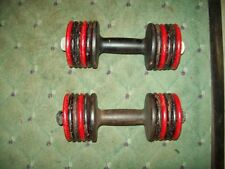 vtg YORK BARBELL ARISTOCRAT DUMBBELLS BODYBUILDING fitness POWERLIFTING
