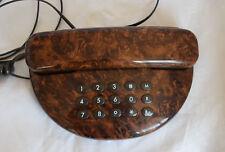 Ancien telephone à Touches Imitation Bois de Loupe Vintage