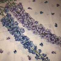 Vintage Wamsutta Supercale Set of 2 Standard Pillowcases Purple Floral on White