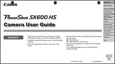 Canon Powershot SX600 HS Digital Camera User Instruction Guide  Manual