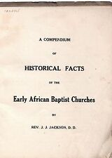 A Compendium of Historical Facts of the Early African Baptist Churches