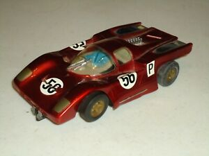 1/24 VINTAGE CARRERA  SLOT CAR WARPED BODY  AS-IS PARTS OR RESTORE  RUNS