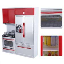 Girl Kids Plastic Kitchen Toy Toddler Role Play Cooking Kitchenware Playset HL