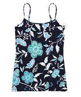 LOFT Outlet Women's S - NWT$25 - Navy Retro Floral Cotton Stretch Cami Tank
