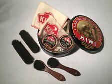Vintage Kiwi Classic Shoe Care Kit Norman Rockwell Commemorative Edition Tin