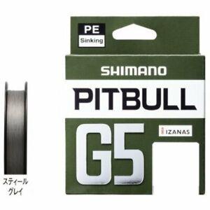PE Line for Lure Fishing Shimano LD-M51U Pitbull G5 150m No.1 Steel Gray