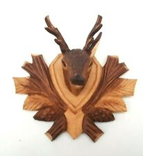 Wooden Carved Deer head with antlers,Animal carvings,Wooden Gifts