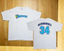 Rare Felix Hernandez Everett Aquasox Minor League Baseball Shirt Mens L Pitcher