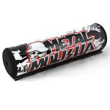 "7.9"" Black&White METAL DIRT BIKE Motorcyle Motorcross Handlebar Cross Bar Pad OB"
