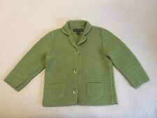 Josephine Chaus Sweater Cardigan Shirt Top Sz M Button Down Green Blazer Jacket