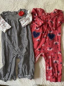 infant girls size 12 months lot of one piece outfits from Carter's fall winter