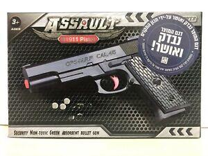 New 15CM+60 Bullets Semi-automatic Pistol Weapon Model Plastic Rifle Gun Toy