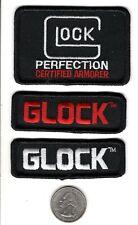 3X GLOCK PERFECTION ARMORER FIREARMS RIFLE PISTOL SHOTGUN PATCHES-MICHIGAN DEER