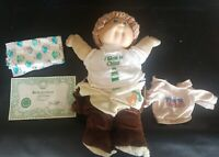 1985 signed Xavier Roberts Cabbage Patch Doll Boy extra diaper Teddy Bear outfit