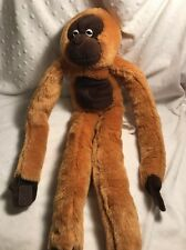"ANIMAL ALLEY 22"" Plush Brown Hanging Monkey Hands Stick Together"