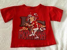VINTAGE 1993 Kansas City Chiefs JOE MONTANA Red SS T-Shirt Boys sz 6-8