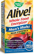 Alive! Max Potency Men's - 90 Tablets - Nature's Way