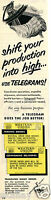 1951 Print Ad of Western Union Telegraphic Telegram Money Orders