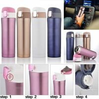 500-700ML Water Bottle Vacuum Insulated Flask Thermal Sport Chilly Cold Drink UK