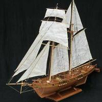 1:100 Halcon Wooden Sailing Boat Model DIY Kit Ship Assembly Decoration Gif gt