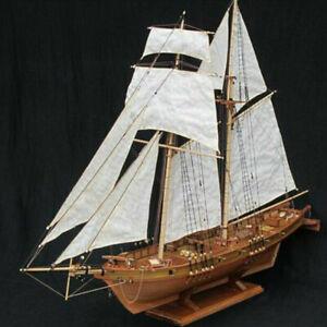 1:100 Halcon Wooden Sailing Boat Model DIY Kit Ship Assembly Decoration GiftW.fr