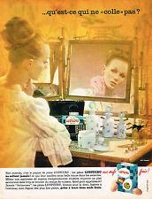 PUBLICITE ADVERTISING 104  1963  LUSTUCRU  pates qui ne collent pas