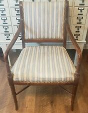 Vintage Hickory, NC Southwood Regency Mahogany Faux Bamboo Armchair Chair