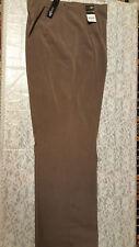 NWT East 5th Women's Choco Heather No Waist Micro Pleated Dress Pants Size 14
